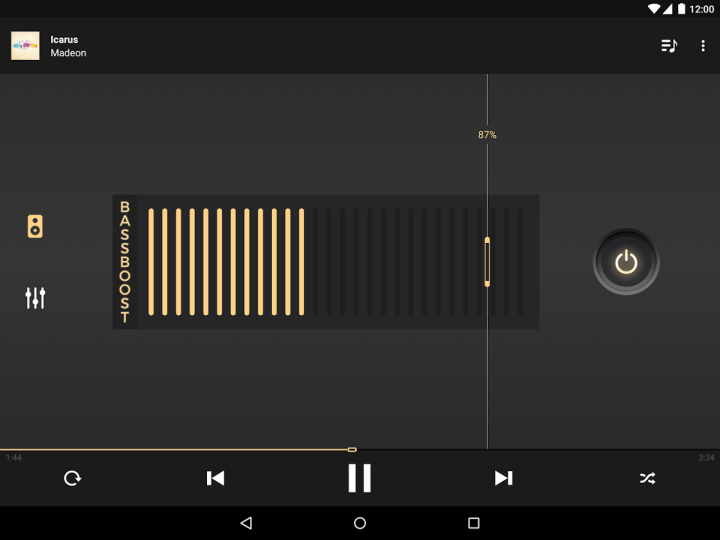 android music player with equalizer