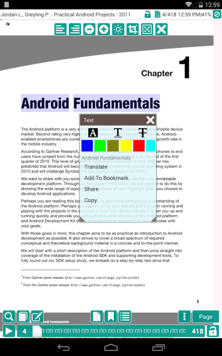 App Pdf reader For android