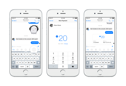 Facebook Announces Payment Services using Messenger App