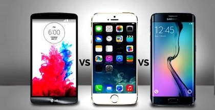The Battle Has Begun – Samsung Galaxy S6 vs iPhone 6 vs LG G4