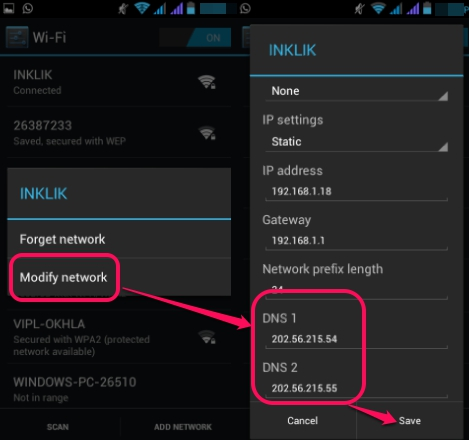 change-Android-DNS-server