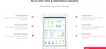 All In One Mitrefinch Time & Attendance Solution Suited For Employees
