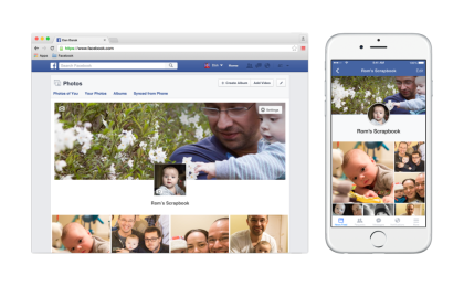 Facebook Scrapbooks feature help you as parent to organize your children's pictures